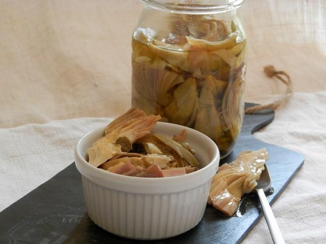 Carciofini sott'olio aglio e alloro