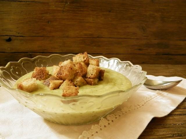 Crema di patate e broccoli allo zenzero