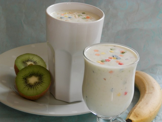 Smoothie banana e kiwi