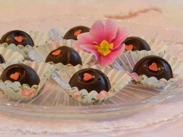 Cioccolatini ripieni di mango