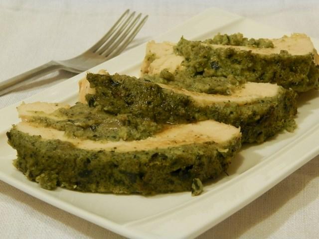Petto di pollo al forno farcito ai broccoli