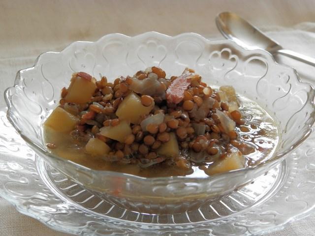 Zuppa di lenticchie allo speck