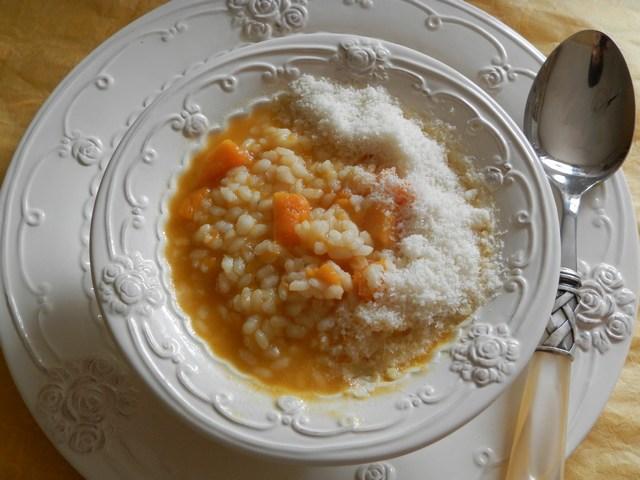 Minestra di riso e zucca