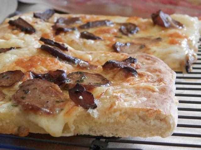 Pizza fontina e porcini