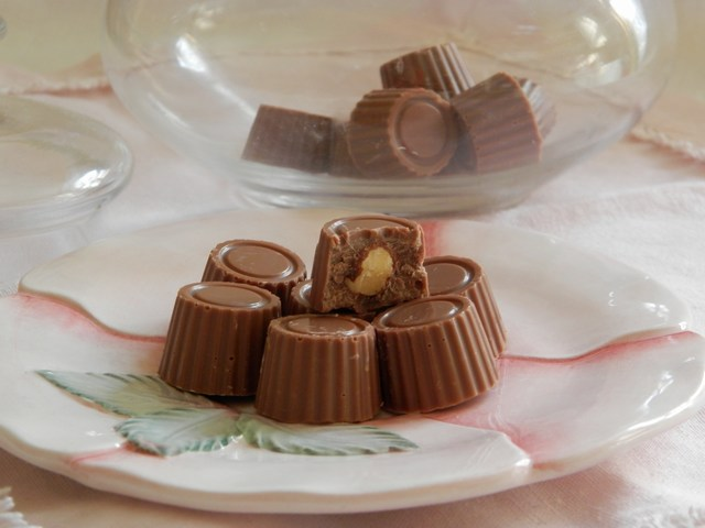 Cioccolatini al latte con nocciole