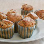 Muffin alla crusca e mirtilli rossi