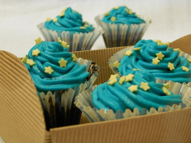 Cupcakes al mandarino e frosting alla panna e mascarpone