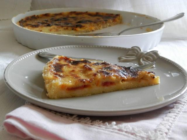 Crostata alla crema catalana e arance