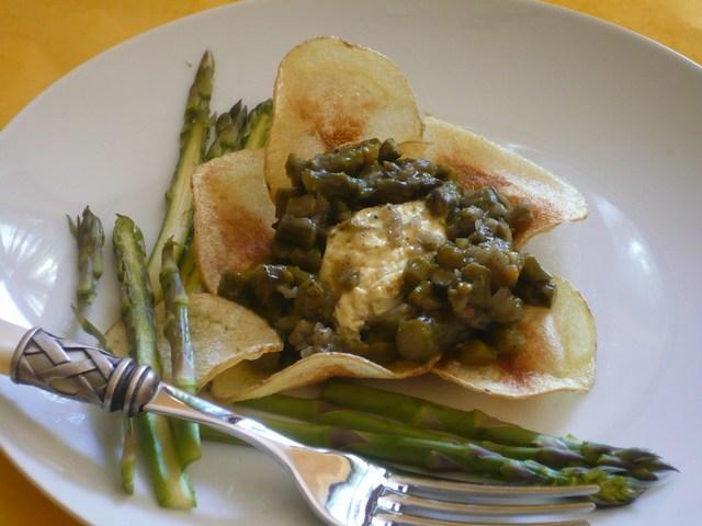 Petali di patata agli asparagi verdi di Altedo I.G.P.