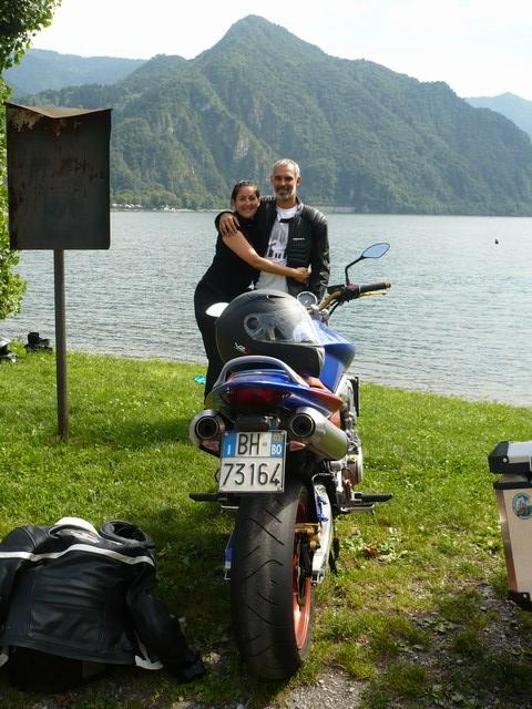 Lago cascate e Dolomiti in moto