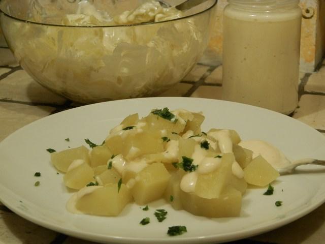Insalata di patate con maionese allo zenzero