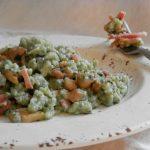 Spaetzel verdi ai porcini e speck