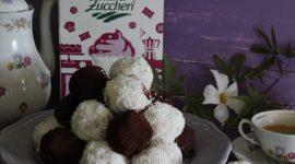 Bon bon di ricotta e cocco al cioccolato