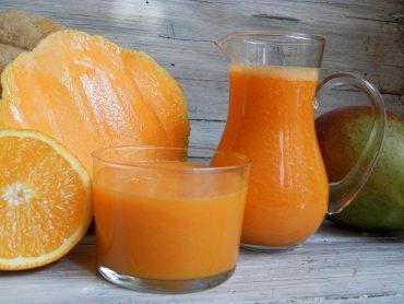 Estratto zucca carote e mango