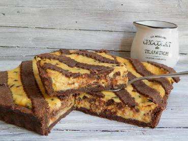 Crostata ripiena di ricotta cioccolato e arancia