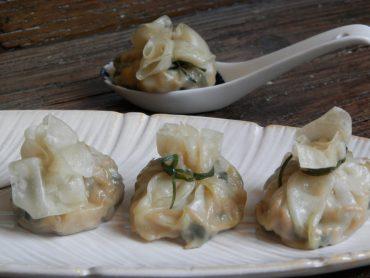 Dim sum ripieni di spinaci e tofu