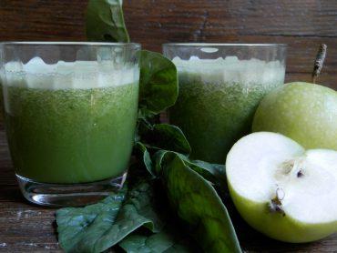 Estratto di kiwi spinaci e mela verde