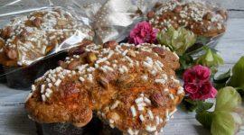 Colombine pasquali agli agrumi e cioccolato bianco glassate ai pistacchi