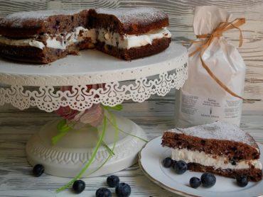 Torta rustica mirtilli e farro
