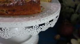 Torta alla farina di castagne e profumata all'arancia e rum – senza burro
