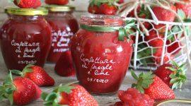 Confettura di fragole al lime