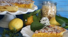Crostata mandorle e limone