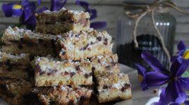 Torta sbriciolata alla ricotta con gocce di cioccolato